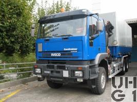 IVECO EuroTrakker MP 260E 44W/P, Lastw für WA 10 t Ladekran 6x6 gl für Hebebühne