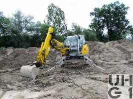 Menzi Muck A81 Mobil, Schreitbagger GG 8,5 t 4x2 gl