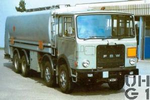 FBW 85 V E4A, Tankw Trst 20000 l sch 8x4, Strassenzisterne 78