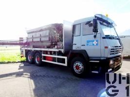 Steyr 26S32 P38, Lastw 14,9 t bgl 6x4 für Pistenenteisung
