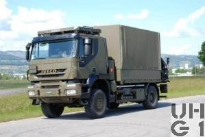 IVECO Trakker AT-N 190 T 36 W Lastwagen Verdeck/Ladekran 3,4 t 4x4, Foto Armasuisse