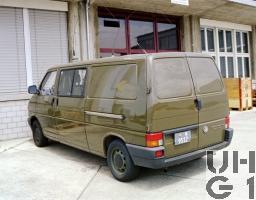 VW Transporter T4 syncro, Fkw Kasten L mit SE-412/AC 4x4