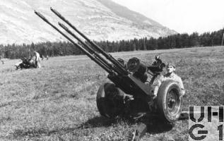 20 mm Fliegerabwehr Kanone Drilling Modell 43, Bild Bruno Wiederkehr
