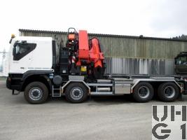 IVECO Trakker AT-N 410 T 50 W-FSA, Conw Sch Gesch Int Kran GG 32t 8x8 Gl