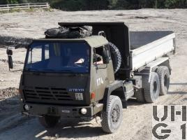 Steyr 1491.310/S37, Lastw / Sattelschl F WA Brue 95 sch gl 6x6 Dreiseitenkipper