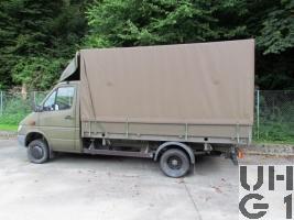 Mercedes Benz 413 CDI 4x4 Lastw L für WA 2,3 t mit WB L Brücke/Verdeck 1,7 t FHS