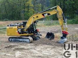Caterpillar 320E L, Bagger GG 23 t Raupen
