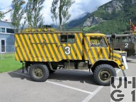 Unimog S 404.113, Löschwagen 62 Pulver 500 kg sch gl 4x4