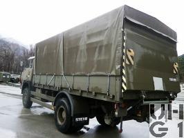 Steyr 1291.320 P42, Repw ADS 95 sch bgl 4x4 mit Hebebühne, Foto Armasuisse