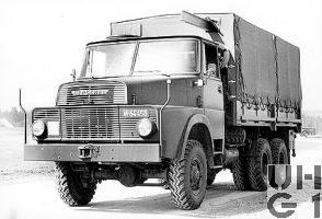 Henschel HS 3-14 HA CH, Lastw 7,7 t gl 6x6 El. Kran