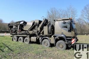 IVECO Trakker AT-N 410 T 50 W-5 Y-FS, 10x8/6 Verlegewagen 5-Achsig zu Ustü Brü 46m DSB