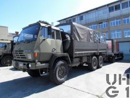 Steyr 1491.320 P40/M, Lastw 9.6 t gl 6x6 mit Sort Wassertransport