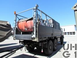 Steyr 1491.320 P40/M, Lastw 9.6 t gl 6x6 mit Sort Wassertransport