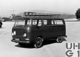 VW Transporter Typ 2 T2, Pw Kombi 9 Pl 4x2, Bild Armasuisse