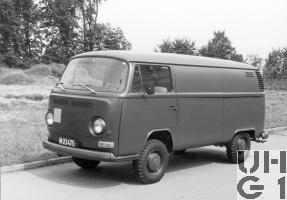 VW Transporter T2, Lieferw Kasten 0,9 / 1,1 t 4x2, Foto Armasuisse