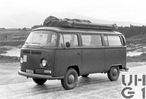 VW Transporter Typ 2 T2, Fotobegleitw l 4x2, Foto Armasuisse
