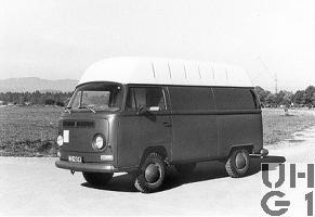 VW Transporter Typ 2 T2, Fotow l 4x2, Foto Armasuisse