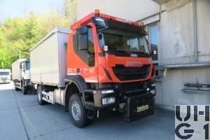 IVECO Trakker AT190T45W/P, Lastwagen Verdeck Hebebühne 6 t 4x4 Für Schneepflug