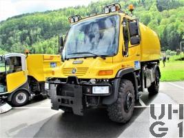 Mercedes Benz Unimog U400, Reinigw sch 01 Flpl Unifant 4x4 gl