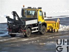 Mercedes Benz Unimog U400, Reinigw sch 01 Flpl Ki 5,6 t 4x4 gl