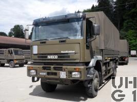 IVECO EuroTrakker MP 190E 35W/P, Lastw für WA Trp 9,1 t 4x4 gl