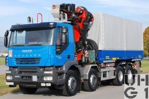Iveco Trakker AD-N 410 T50/P, Lastw für WA Ladekr Verw 8,4 t 8x4 für Hebu, Foto Armasuisse