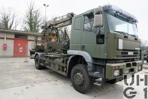 IVECO EuroTrakker MP 190E 35W/P, Lastw F WA FS Trp 9,1 t 4x4 gl mit Wechselrahmen Ausbildungskran