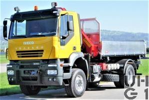 IVECO Trakker AD-N 190 T 38 W, Lastw Kipper/Ladekran 4,8 t 4x4 gl für Schneepflug, Foto Armasuisse