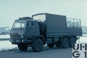 Steyr 1491.320 P40/M, Lastw 9.6 t gl 6x6 mit Sort Brandeinsatz, Foto Armasuisse