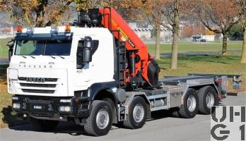 IVECO Trakker AT-N 410 T 50 W/P-FSA, Conw Sch Gesch Int Kran GG 32t 8x8 g, Foto Armasuisse