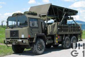 Saurer 10 DM, Antennenwagen schwer Taflir 6x6, Foto Armasuisse