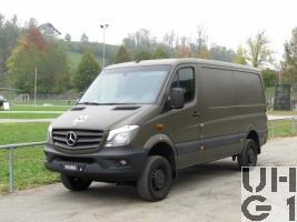 Mercedes Benz 316 CDI, 4x4 Kastenwagen Euro 6 BlueTEC