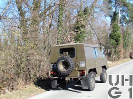 Steyr Puch Pinzgauer 710 K, 4x4, Fkw Kasten L gl mit SE-412/ABC