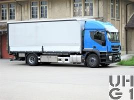 IVECO Stralis AT 190 S 46/FP-D, Lastw Verdeck/Hebebühne 7 t 4x2