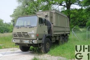 Steyr 1491.320 P40/M, Lastw Seilw 9.6 t gl 6x6 mit Ei Sta ADS 95