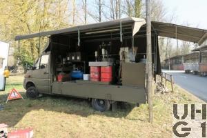 Mercedes Benz 413 CDI 4x4 Lastw L für WA 2,3 t mit WB L Brücke/Verdeck 1,7 t FHS, Wartungswagen