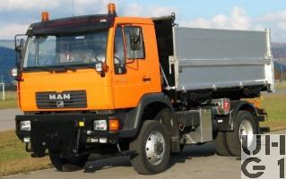 MAN 14.285 LA, Lastw Kipper 6,1 t 4x4 gl für Schneepflug, Bild Armasuisse