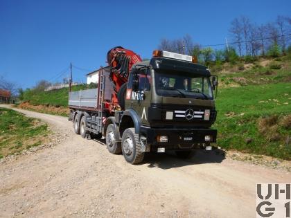 Mercedes Benz Powerliner 3538 AK, 8x8/4 Kran, Conw SCH INT 8,1 t