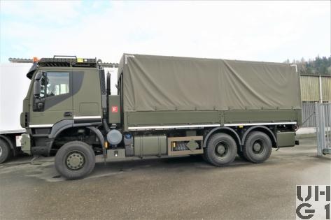 IVECO Trakker AT380T45W/P, Lastw Verdeck Hebebühne 11,5 t 6x6