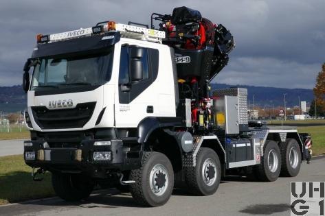 IVECO Trakker AT410T50W/P, Sattelschl sch int Ladekr, 8x8 gl Foto Armasuisse Kompetenzbereich Landsysteme