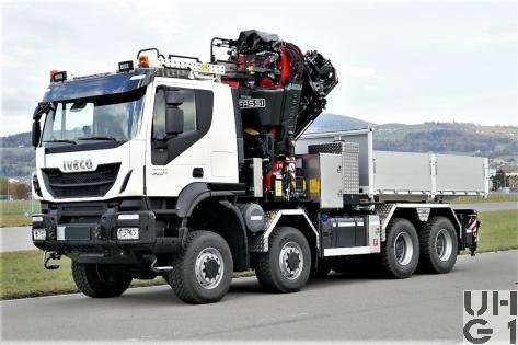 IVECO Trakker AT410T50W/P, Sattelschl sch int Ladekr, 8x8 gl mit Zusatzbrücke Foto Armasuisse Kompetenzbereich Landsysteme