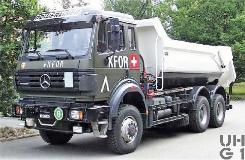 Mercedes Benz 2638 A, Lastw WA Muldenkipper 10,6 t gl 6x6