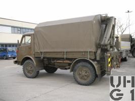 Steyr A 680 g, Repw A2 / Spz 93 sch gl 4x4 mit Ladekran