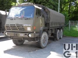 Steyr 1491.320 P40/M, Lastw Seilw 9.6 t gl 6x6