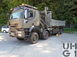 IVECO Trakker AT-N410T50W/P, Lastwagen WABRA/HA Con 14,5 t 8x8 gl